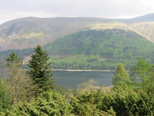 Thirlmere from the descent through the wood
