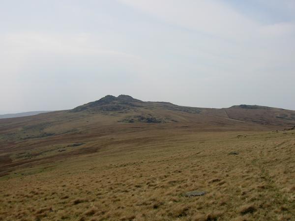 Looking back to Buck Barrow as we contoured round Burn Moor