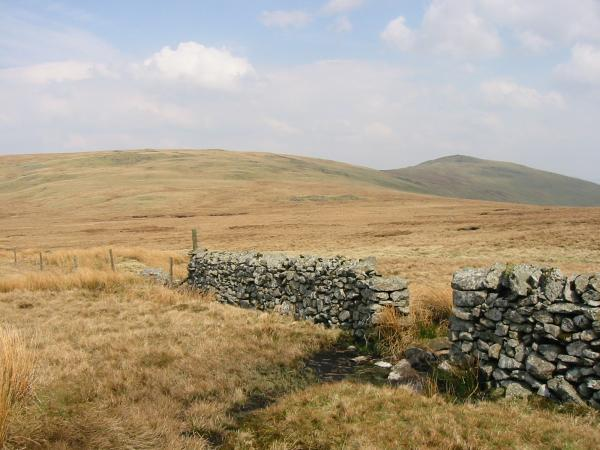 The view back to Burn Moor and Whitfell from the route up Kinmont Buck Barrow