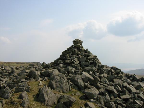 Cairn on the top of Kinmont Buck Barrow