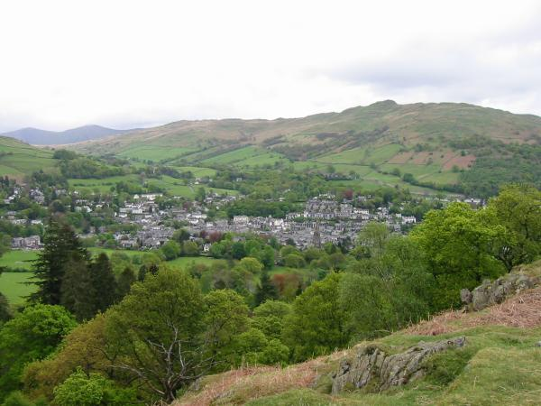 Ambleside with Wansfell behind