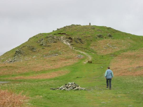 Approaching Loughrigg Fell summit