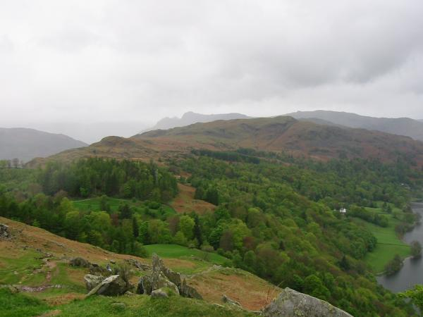 Silver How with the Langdale Pikes behind