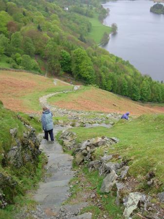 Descending to Loughrigg Terrace