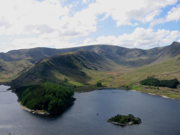 The Rigg, Rough Crag, Long Stile onto High Street, Riggindale and Kidsty Pike on the far right