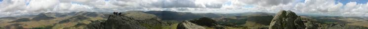 360 Panorama from Harter Fell's summit
