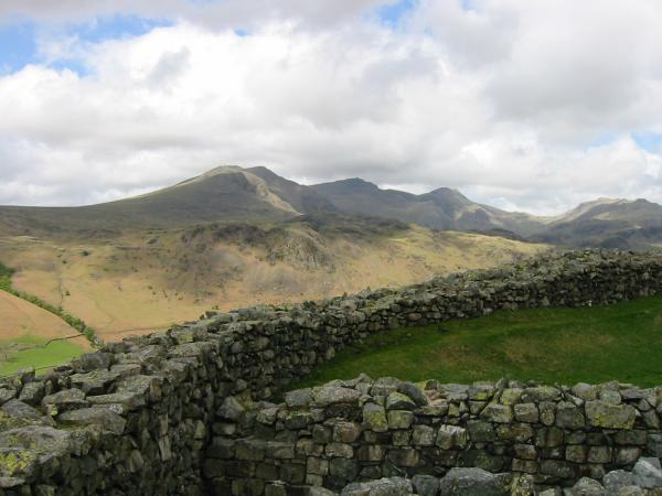 The Scafells from the fort