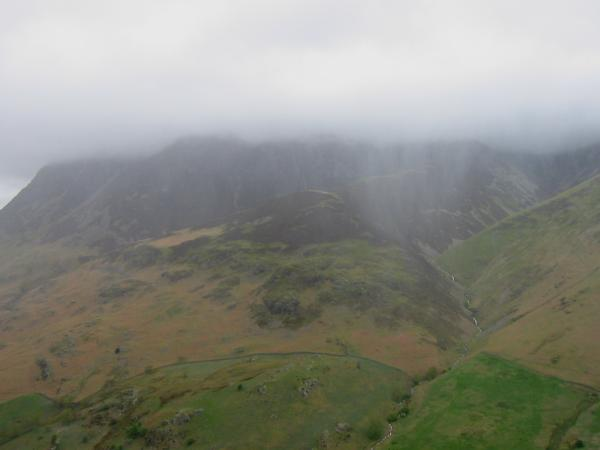 Rain and cloud hide Grasmoor
