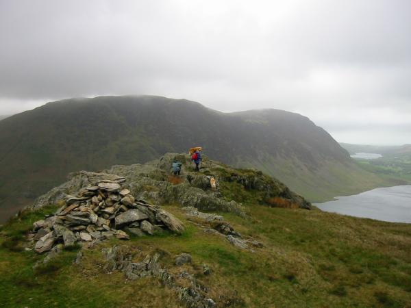 Mellbreak, Loweswater and Crummock Water from Rannerdale Knotts summit
