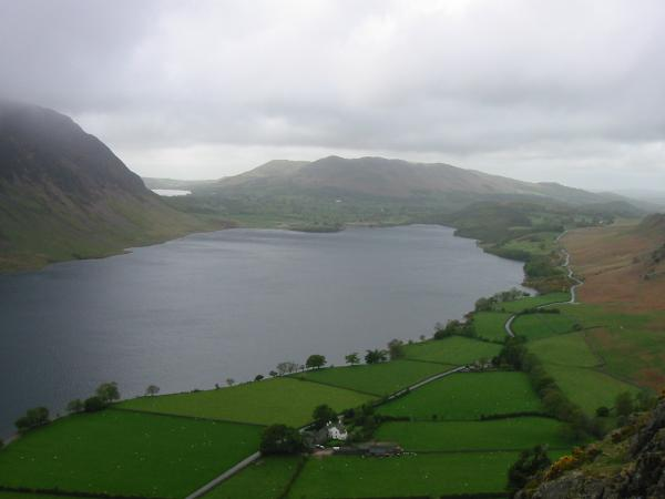 Low Fell and Crummock Water from the descent