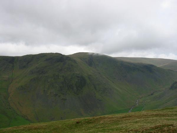 Looking across Longsleddale to Goat Scar and Kentmere Pike from Great Howe