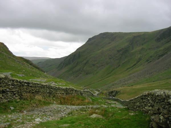 Looking down Longsleddale with Goat Scar on the right