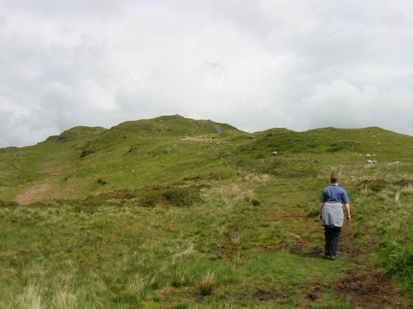 Heading for Hooker Crag, Muncaster Fell's summit