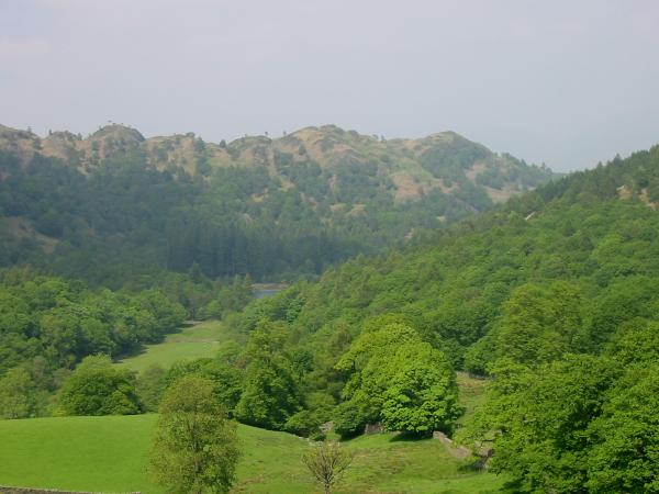 Holme Fell's north east ridge with Yew Tree Tarn just visible in the centre of the picture