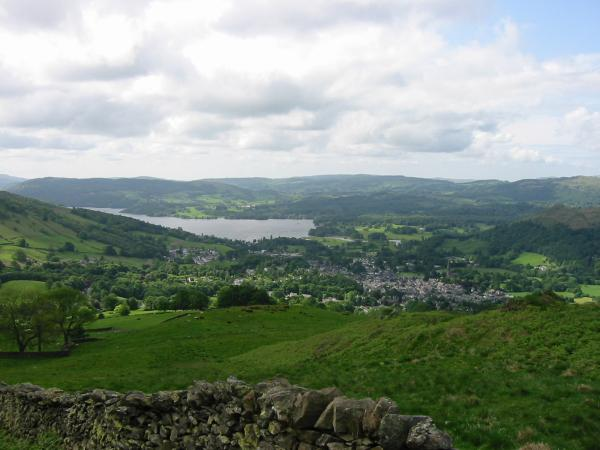 Looking back down on Ambleside