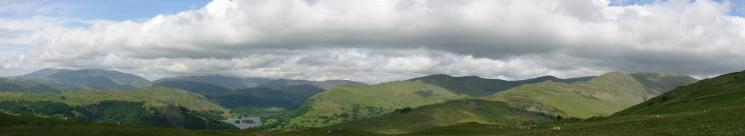 A westerly panorama from Red Screes south ridge