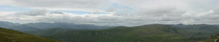 Westerly panorama from Red Screes summit