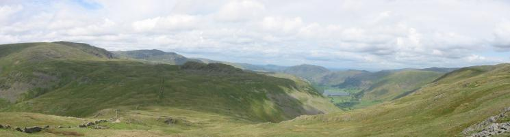 A northerly panorama from the descent to Scandale Pass