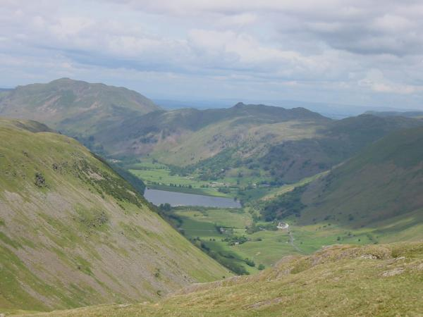 ...and zooming in with Place Fell and Angletarn Pikes behind