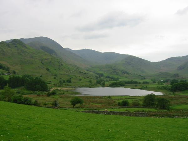 Little Langdale Tarn with Wetherlam, Swirl How, Great Carrs, Wet Side Edge and Wrynose Pass behind