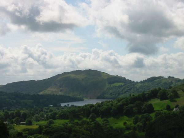 Loughrigg Fell and Grasmere from the ascent of Helm Crag