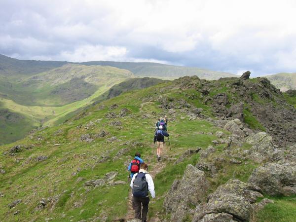 Heading towards the Howitzer, Helm Crag summit