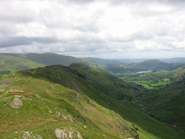 The view back down the ridge