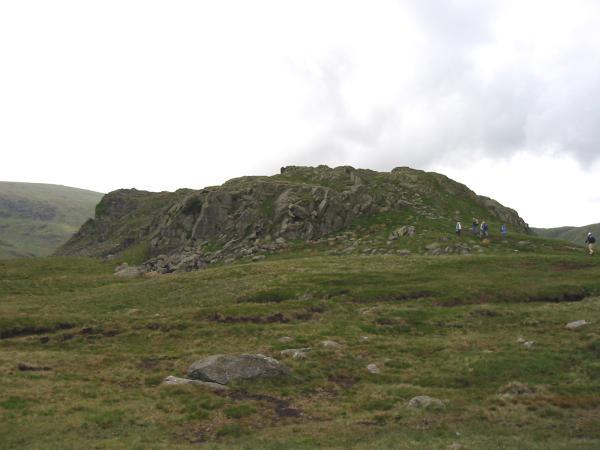 Approaching Calf Crag summit