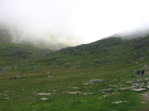 Heading for Goat's Water and into the cloud