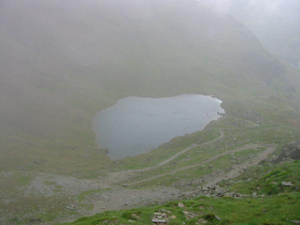 Looking down on Low Water as we drop below the cloud again