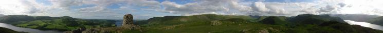 360 Panorama from Hallin Fell's summit