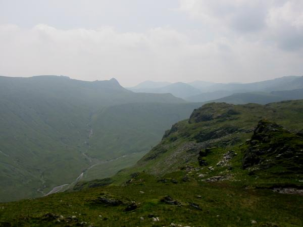Pike O' Stickle seen across Langstrath