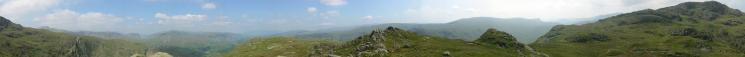 360 Panorama from Rosthwaite Fell (Dovenest Crag top)'s summit