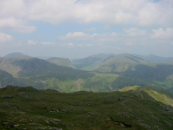 Looking down on Thornythwaite Fell from Combe Head