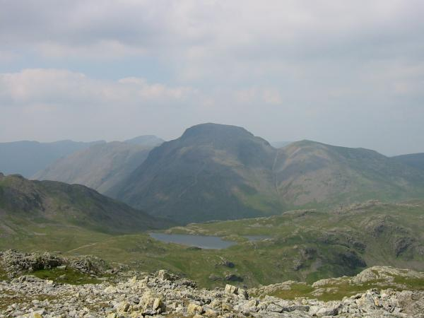 Great Gable and Sprinkling Tarn from Allen Crags
