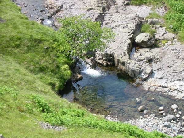 One of the many pools in Langstrath Beck