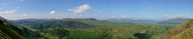 A westerly panorama from Beckthorns Rib