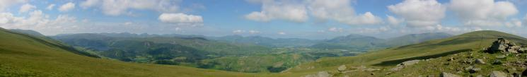 Westerly panorama from Calfhow Pike