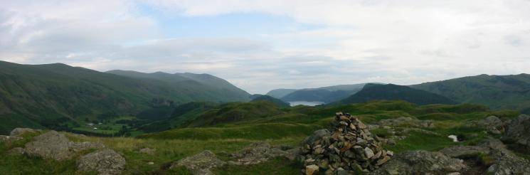 Southerly panorama from High Rigg summit