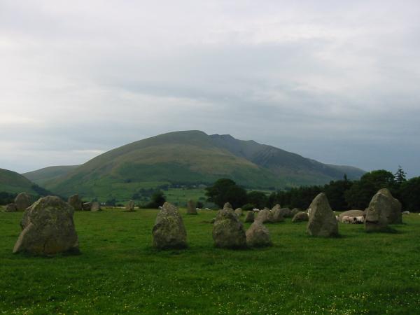 Blencathra from Castlerigg Stone Circle