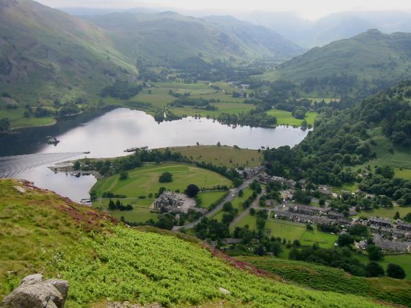 Looking down on Glenridding and the head of Ullswater