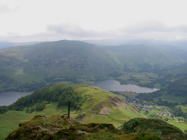 Looking down on Glenridding Dodd from Heron Pike