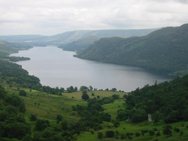 Ullswater and the old miners' cottages of Seldom Seen, Glencoyne