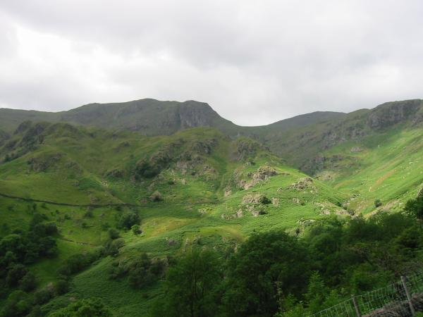 Dove Crag partly hidden by Stangs