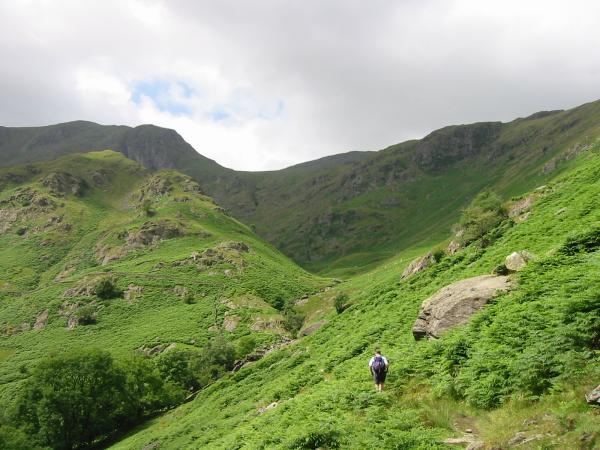 Heading up Dovedale
