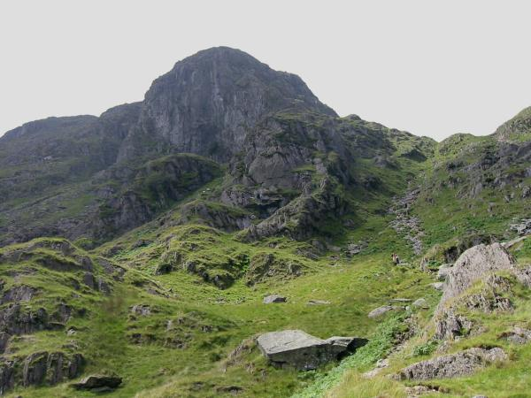 Dove Crag and the scree slope that the path ascends