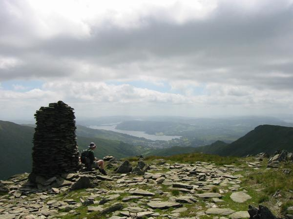Windermere from High Bakestones with Low Pike and High Pike on the right