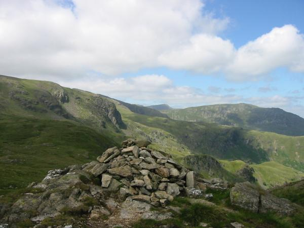 Dove Crag, Helvellyn and Saint Sunday Crag from Little Hart Crag summit