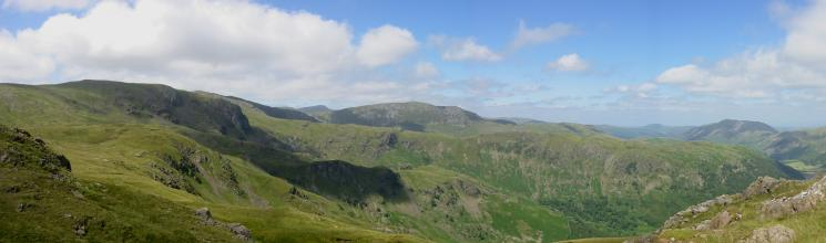 Northerly panorama from Little Hart Crag