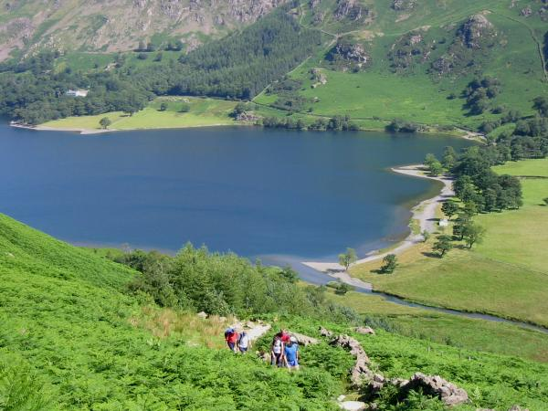 The path up to Scarth Gap from Buttermere